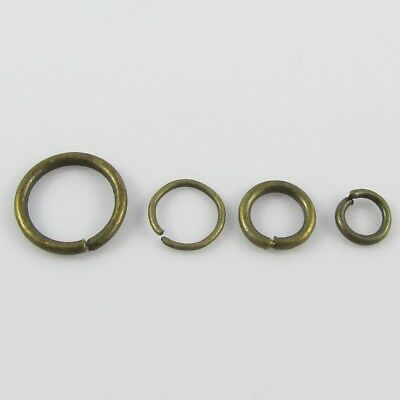 Bulk Antique Bronze Jump Rings Open Jumprings Findings Craft Select size