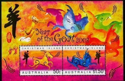 Christmas Island 2003 MNH MUH M/S - Year of the Goat