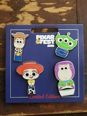 Disney Parks Pixar Fest The toy story 4 Pin Set LE 1500 Pin