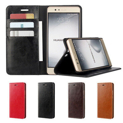 Wallet Card Stand Real Leather Flip Case Cover LG G 3 5 G6 G7 ThinQ V30 Nexus 5X