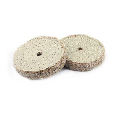 5Pcs 4 Inch  Sisal Cloth Buffing Wheel For Metal Stainles Steel Polishing