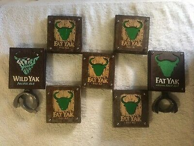Yak Ale Decals Wood / Metal Beer Fat Yak Wild Yak Mancave Badge Top Collectors