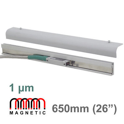 """650mm 26"""" 1μm Magnetic Linear Scale Digital Readout Encoder Mag DRO Lathe Mill"""