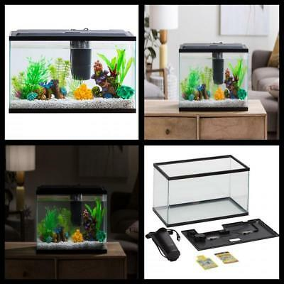 Aqua Culture 10 Gallon Aquarium Starter Kit with LED Light Fish tank Free Ship