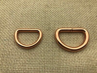 25 x Heavy Welded D rings - Rose Gold, 2 sizes -Heavy duty