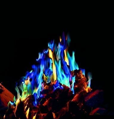 MYSTICAL FIRE 40 pkts - Camping Fun Coloured Magical Campfire Flames Rainbow