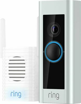 Ring Video Doorbell Pro WiFi 1080P HD Camera with Night Vision Satin Nickel New