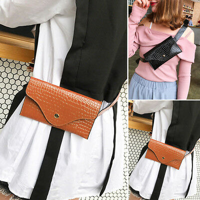 AU Womens Waist Bag Fanny Pack PU Leather Bag Belt Purse Purse Phone Pouch AU