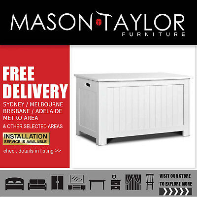 Mason Taylor Kid's Toy Cabinet Chest White