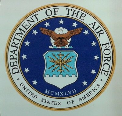 """US ARMY, """"Department of the Air Force"""", Militär Sticker, Auto Aufkleber, Jeep"""
