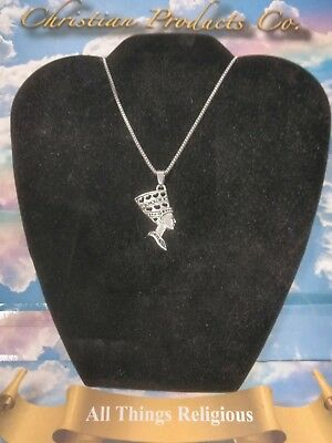 Women Fashion Jewelry Antique Silver Plated Queen Nefertiti Charm Necklace