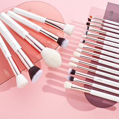 AU Jessup Professional Cosmetic Brush Set Brow Natural-synthetic Rose Gold 20Pcs
