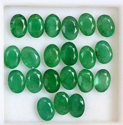 3.60 Cts Certified Natural Emerald Oval Cut 7x5 mm Lot 05 Pcs Loose Gemstones