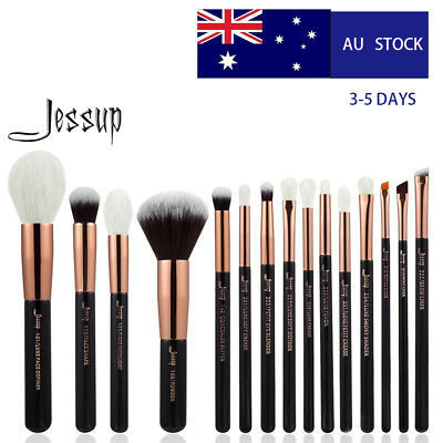 AU Delivery Jessup Cosmetic Brush Set Makeup Tool Natural-Synthetic Rose Gold
