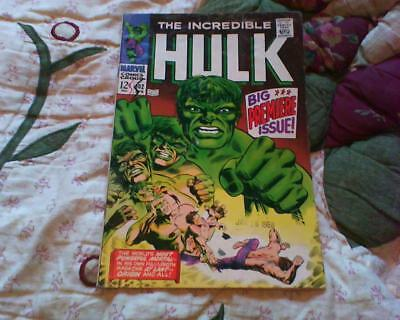 Incredible Hulk 102 + Free Helium Balloon Marvel Comic 12 Cents