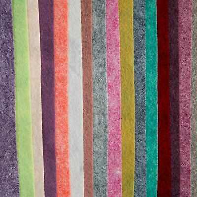 Merino Wool Blend Felt, 24 colour options, sheet, mini roll