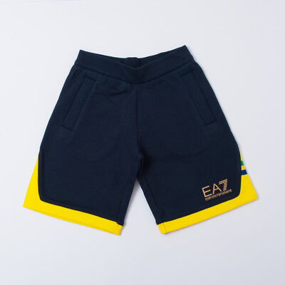 """Short Blue And Yellow With Logo Boy Kids (6/8/10/14Y) """"ea7"""" 3Zbs54 2018 [-50%]"""