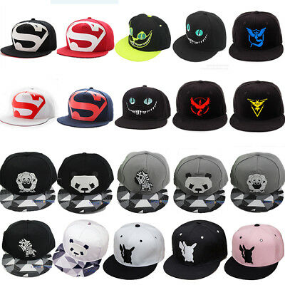 822725f574e Men Women Snapback Adjustable Baseball Cap Hip Hop Hat Cool Bboy Brim Flat  Cap