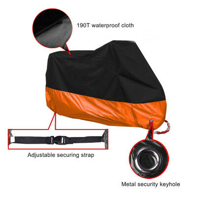 Waterproof Durable Motorcycle Motorbike Rain Dust Cover Protection Large Size