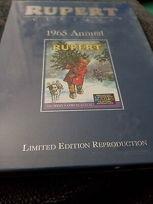 Rupert annual 1965 x limited edition facsimile x brand new still sealed x 30 x
