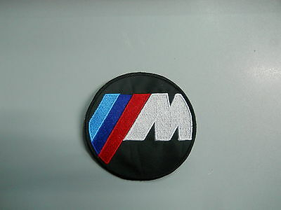 BMW Emblem Patch Embroidered M SERIES Thermoadhesive Diameter 8 Cm