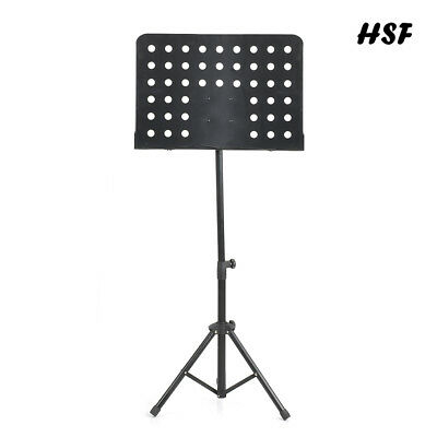 Music Stand Adjustable Orchestra Sheet Holder Tripod Foldable Metal Stand Black