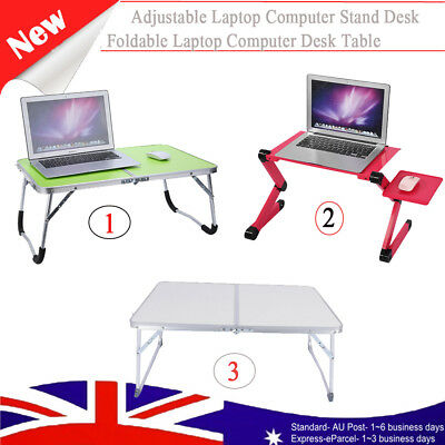 Laptop Stand Adjustable Aluminium Folding Computer Bed Dinner Picnic Table Desk