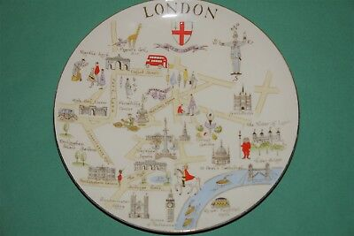 Royal Chelsea Bone China LONDON Souvenir Plate made in England preowned