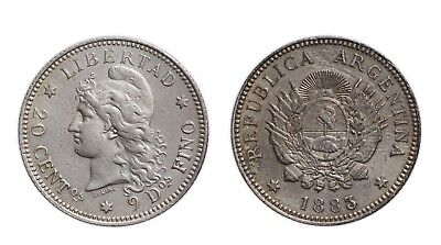 Argentina 1883 20 Cent ( Centavos ) Extremely Fine - Combined Shipping