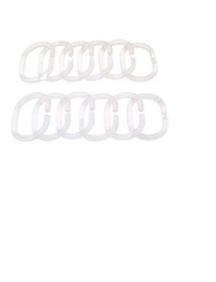 *New* Shower curtain ring RINGSJÖN  Transparent  12 pack *Brand IKEA*