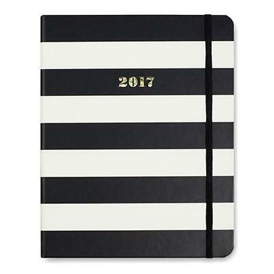 Kate Spade The Stage Black Stripes 17-Month Large Agenda Planner 2017 Display