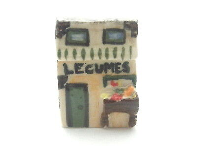 Dollhouse Miniature French produce shop - hand made ceramic