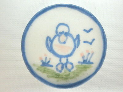 Dollhouse Miniature ceramic plate - Country style Duck