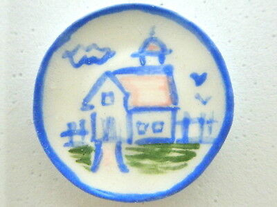Dollhouse Miniature ceramic plate - Country style barn
