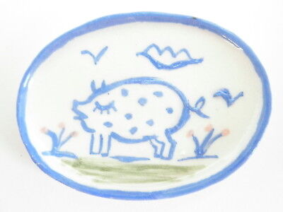 Dollhouse Miniature ceramic dish - Country style Pig