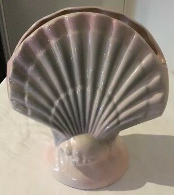Pates Pottery Vase Grey and Pink Shell