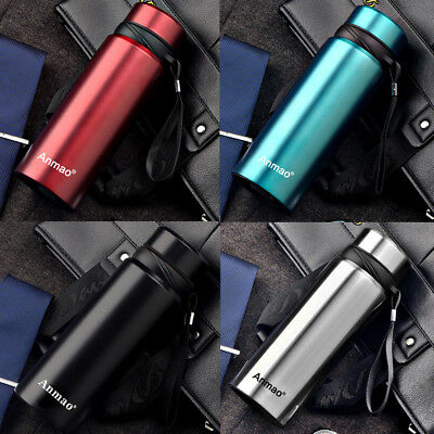750ML Stainless Steel thermos vacuum cup Portable Insulated Travel Flask Bottle