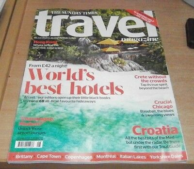 The Sunday Times Travel magazine Aug 2018 World's best hotels from £42. Croatia
