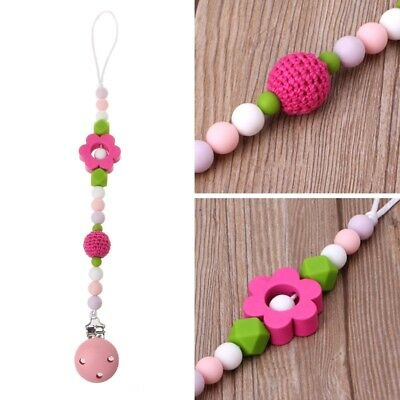 Cute Baby Teething Dummy Pacifier Clip Infant Soother Nipple Strap Chain Gift