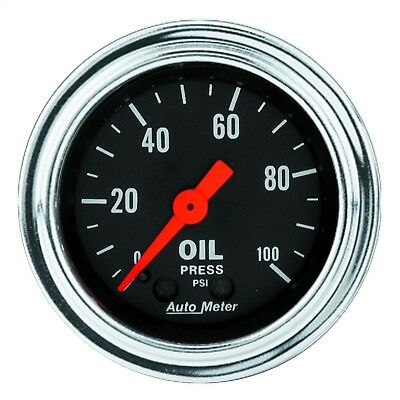 """AUTO METER 2-1/16"""" Oil Pressure Gauge 2421 Mechanical Traditional Chrome NEW"""