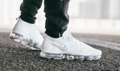 on sale 30828 3a2b6 NIKE AIR VAPORMAX Flyknit 2 Triple White Vast Grey Size 6 7 8 8.5 9 10 11