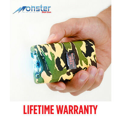 "Monster Mini Stun Gun Max Voltage With Led Flashlight In Camo Color ""see Disc"""