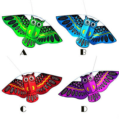 3D Owl Kite Ids Toy Fun Outdoor Flying Activity Game Children With Tail Fashion