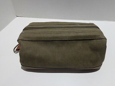 Rare Bosca Canvas & Leather Dopp Kit Utili - kit Toiletry ~ Shaving Travel Bag