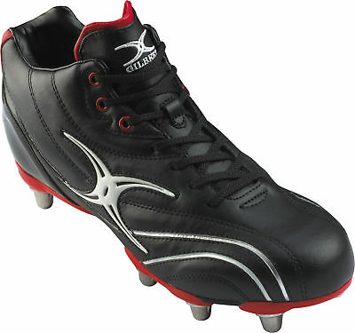 Clearance New Gilbert Rygby Boot  Sidestep Zenon Mid Cut Black/Red  Size 4 JNR