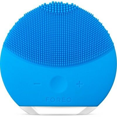 100% FOREO LUNA Mini 2 T-Sonic Facial Cleansing Device BLUE in Box HOLIDAY SALE