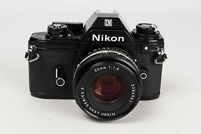 Nikon EM + Nikon Lens Series E 50mm 1:1.8 - New seals