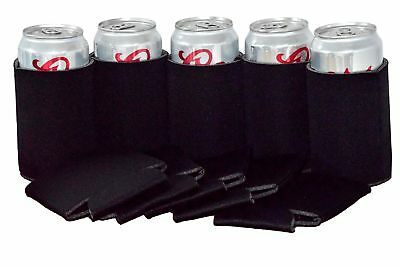 QualityPerfection 25 Black Party Drink Blank Can Coolers(4,6,12,25 or 50 Bulk