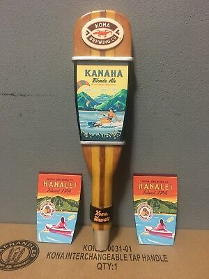 Kona Brewing Co KANAHA Blonde Hanalei Ale Paddle Beer Tap Handle New In Box Rare
