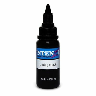 Intenze 30ml (1oz) Black Liner Vegan Tattoo Ink